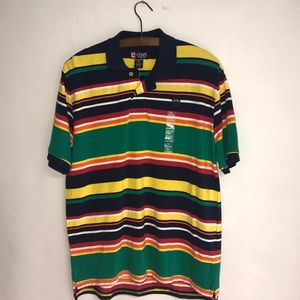 CHAPS Teenager Multi Color Striped Polo MWT